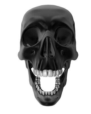 czaszka czarny