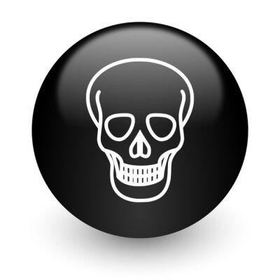 czaszka czarny błyszczący ikona internet
