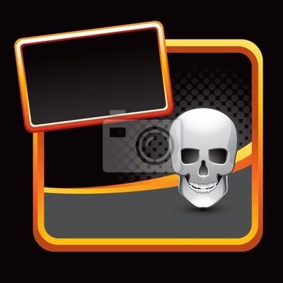 czaszka czarny półtonów stylizowane reklama
