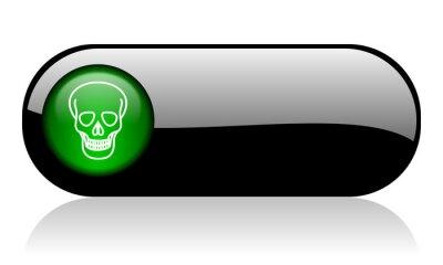 czaszka czarny połysk transparent