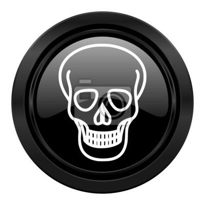 Czaszka czarny znak ikona śmierci