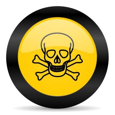 czaszka czarny żółty ikony internetowych