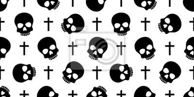 czaszka Piszczele bez szwu wzór Halloween wektor pirat kości trucizna Duch chrystus krzyż szalik izolowane powtórzyć tapety dachówka tło