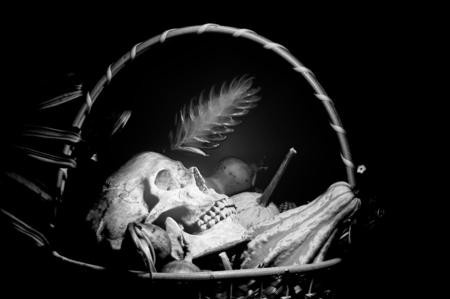 czaszki Black and White