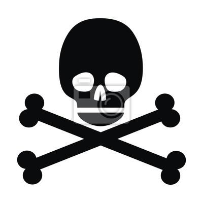 czaszki, czarny symbol
