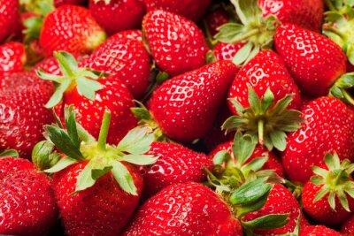 Plakat czerwone truskawki