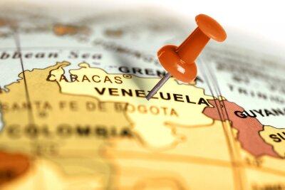 Plakat Czerwony pin na mapie.