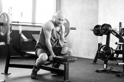 Plakat Człowiek na siłowni