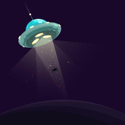 Plakat Człowiek porwany przez UFO