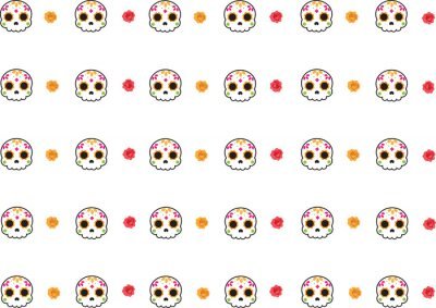 Plakat da of the death skull pattern