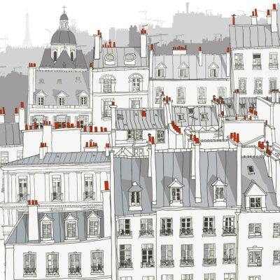 Plakat Dachy Paryża