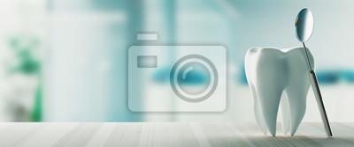 Plakat Dental care, modern clinic, 3d rendering