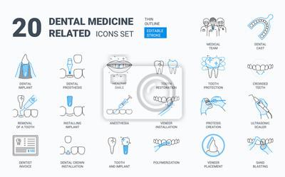 Plakat Dental icons set.