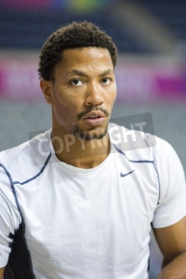 Plakat Derrick Rose of USA Team in action at FIBA World Cup basketball match between USA and Mexico, final score 86-63, on September 6, 2014, in Barcelona, Spain