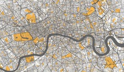 Plakat Detailed Map of London, UK
