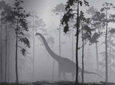 Plakat dinozaur