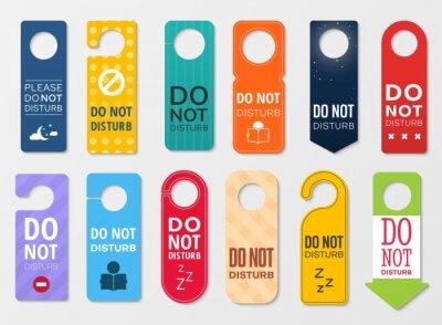 Plakat Do not disturb door hanger signs of hotel room