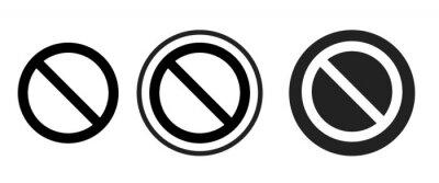 Plakat do not disturb icon . web icon set .vector illustration