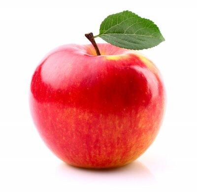 Plakat Dojrzałe jabłko z liści