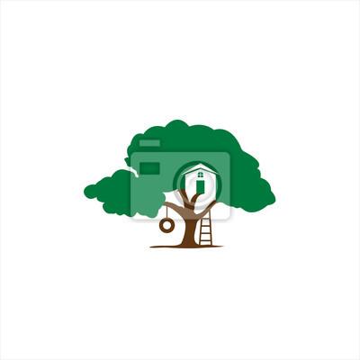 Plakat Dom Drzewo Logo