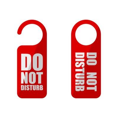 Plakat door sign do not disturb in flat