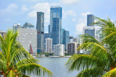 Plakat Downtown Miami Beach in Florida