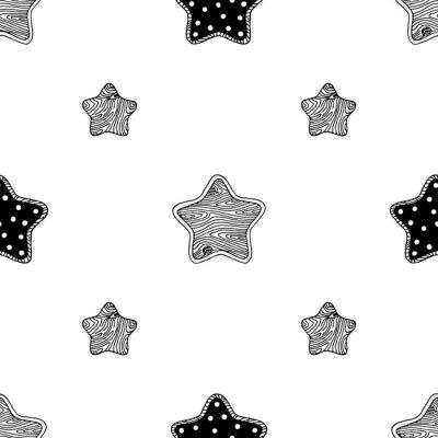 Plakat Drewniane wzór 3 gwiazdek