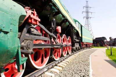 Plakat Droga kolejowych lokomotywa