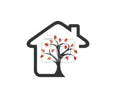 Plakat Drzewo Dom Logo