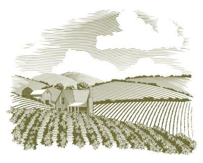 Plakat Drzeworyt Wiejskich Farm House