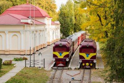 Plakat Dwa stare lokomotywy