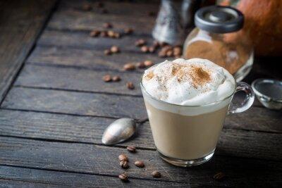 Plakat Dyniowa latte z bitą śmietaną