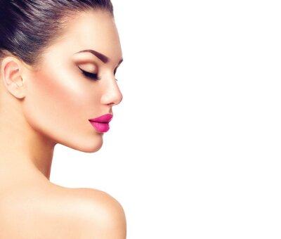Plakat dziewczyna portret modelka Gorgeous Pojedynczo na białym tle