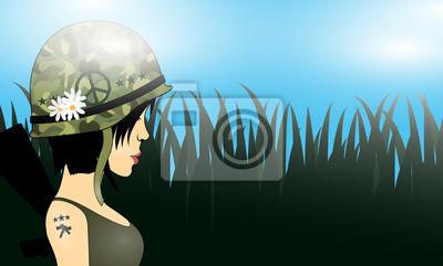 Dziewczyna z tatuażem żołnierz