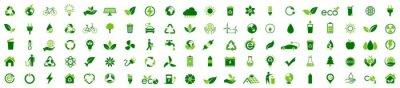 Plakat Ecology icon set. Ecofriendly icon, nature icons set on white background. Vector illustration