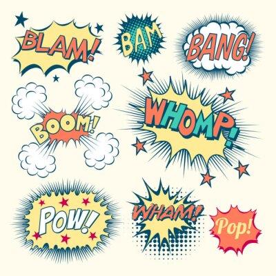 Plakat Efekty dźwiękowe komiks
