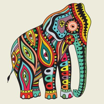 Plakat Elefant. ilustracji wektorowych