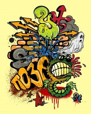 Plakat Elementy graffiti.