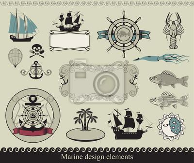 elementy konstrukcji do tematu morskiego