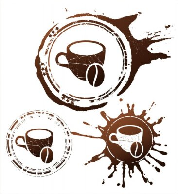 Plakat elementy projektu kawy. ilustracji wektorowych