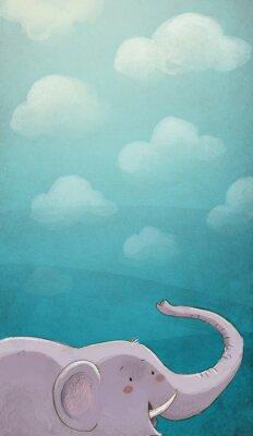 Plakat Elenfante con tekstury