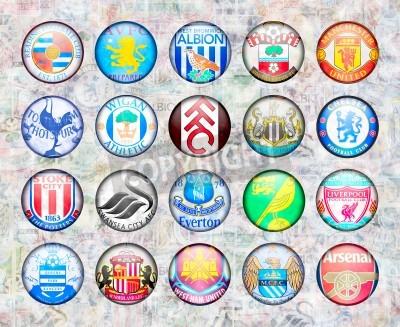 Plakat English Premier League Football Teams 2012/13
