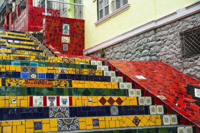 Plakat Escadaria Selaron, Rio de Janeiro, Brazylia