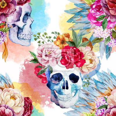 Plakat Ethnic skull