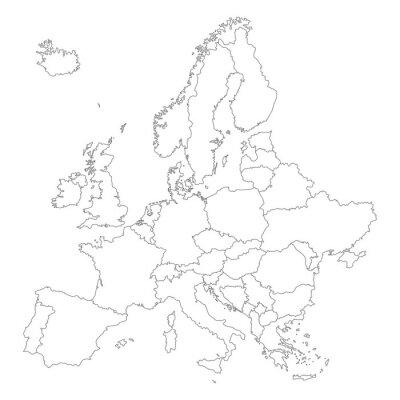Plakat Europa w Weiss - Vektor (Hoher Detailgrad)