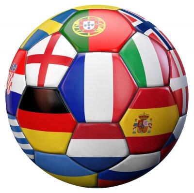 Plakat Europy w piłce nożnej