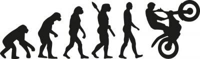 Plakat ewolucja Motocross