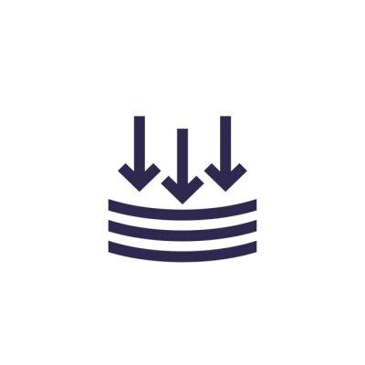 Plakat external pressure icon, vector sign