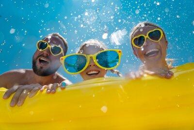 Plakat Family having fun on summer vacation