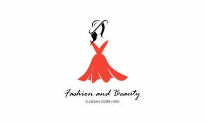 Plakat Fashion, female, dress and beauty logo vector